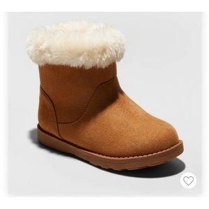 Size 2 christmas Cat /& Jack Girls/' Nicole Zipper Black Winter Snow Boots